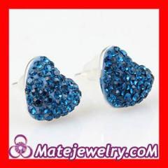 Swarovski heartt stud earrings