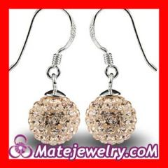 swarovski crystal ball earrings