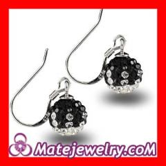 Crystal hook earrings wholesale