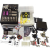 Tattoo Kit 6 Gun Machine With Power Supply Grips Cleaning Brush Ink Needles