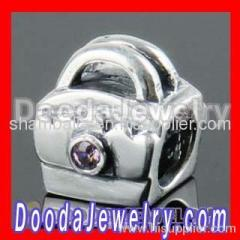 sterling silver european handbag charms bead