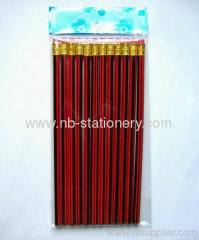 "7"" HB Stripped Printed Wooden Pencil"