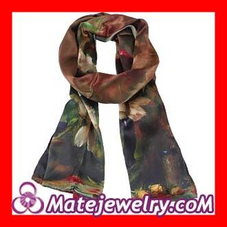designer long silk scarves