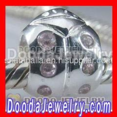 cheap european silver ladybug charms bead