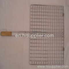 BBQ Wire Netting with Wooden Handle