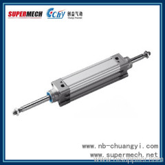 DNC-S2 series ISO 6431 double piston rod china pneumatic cylinders suppliers