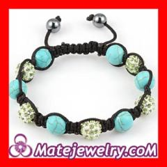 Turquoise crystal beaded bracelets