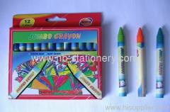 12 colors Jumbo Wax Crayon