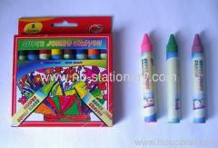 8 Colors Super Jumbo Size Wax Crayon