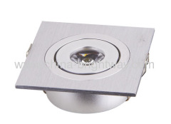 High power 1x3W Ceiling LED Grid Light