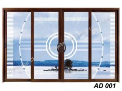 Double glazed glass aluminum door