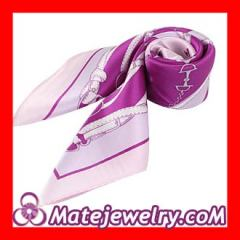 Printed silk neck scarf