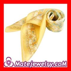 yellow silk square scarves