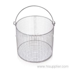 Stainless steel round industrial wire mesh basket