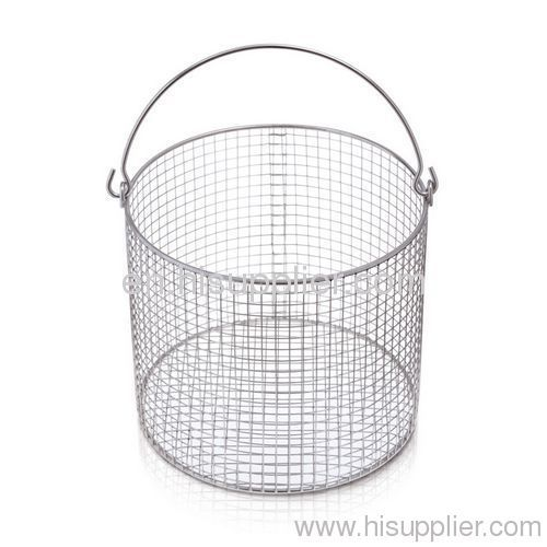 stainless steel round industrial wire mesh basket from