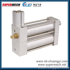 Merge type spirit liquid damping pneumatic air cylinder