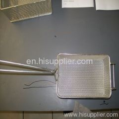 Frying wire mesh baskets