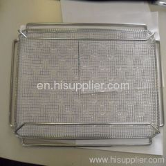 Stainless Steel Crimped Wire Mesh Basket