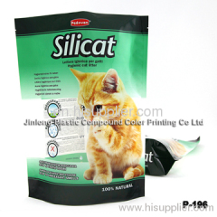 free-stand up with zipper bag for cat litter
