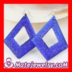 diamond bamboo earrings Wholesale