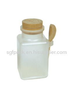 Square Bath Salt Bottle Plastic Container Cosmetic Package