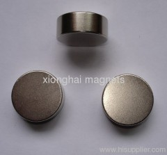 N50 Nickel Disc Neodymium magnets supplier Rare Earth N33,N35,N38,N40,N42,N45,N48,N50,N52, (M, H, SH, EH, UH,AH )