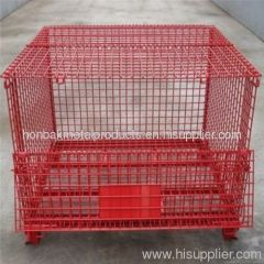 Wire Mesh Container/Tote box /Foldable Wire Mesh Basket
