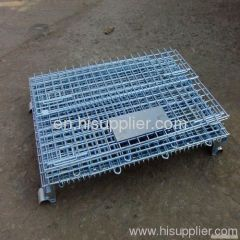 Industrial stainless steel wiremesh container