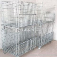 Industrial accessory wire mesh container