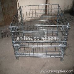 Machinery supply foldable wire mesh cage