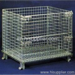 transfer boxes/foldable galvanized wire mesh container