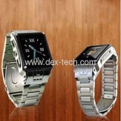 W818 watch mobile phone Waterproof +Steel house + Camera + Expand Memory + 1.5