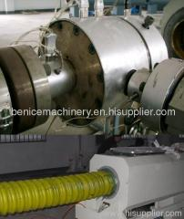 PE carbon spiral reinforcing pipe machine