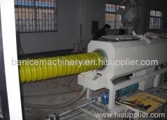 PE carbon spiral pipe machine