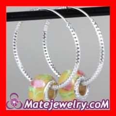 Sterling Silver european pearl earrings