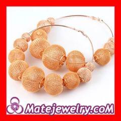 Mesh hoop earrings sterling silver