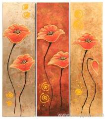 Mordern flower group oil painting