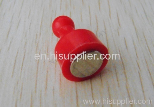Red Color Magnetic Pushpins