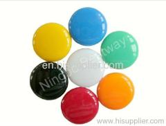 Magnetic button with color coating