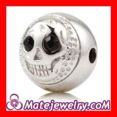 silver skull Head beads