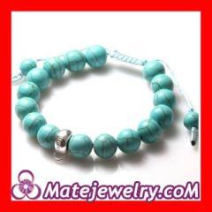 Handmade shamballa turquoise bracelets