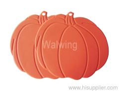 silicone pot holder in pumpkin shape