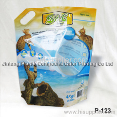 cat litter bag with handle