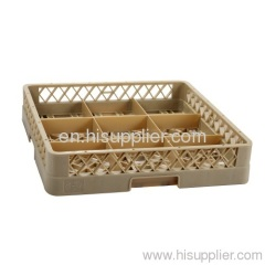 9-compartment glass rack