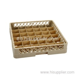 26-compartment glass rack