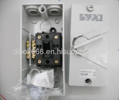 Weatherproof isolating switch IP 65