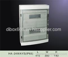 plastic waterproof distribution box ip65,