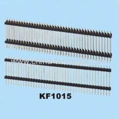 één rij twee laag worp 2,54 mm pin header