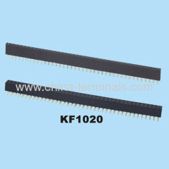pitch 2.54mm straight angle female header