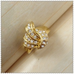 18k gold plated ring 1321059